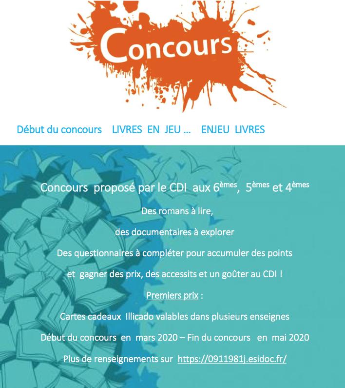 Concours proposé par le CDI