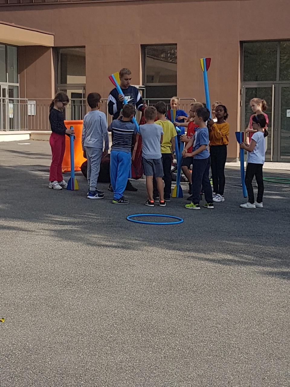 Moments de sport en demi-groupe
