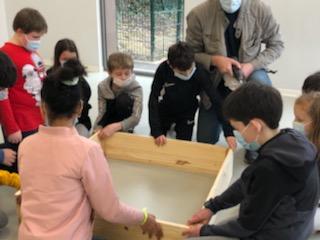 Un jardin pédagogique  créé par les CM2