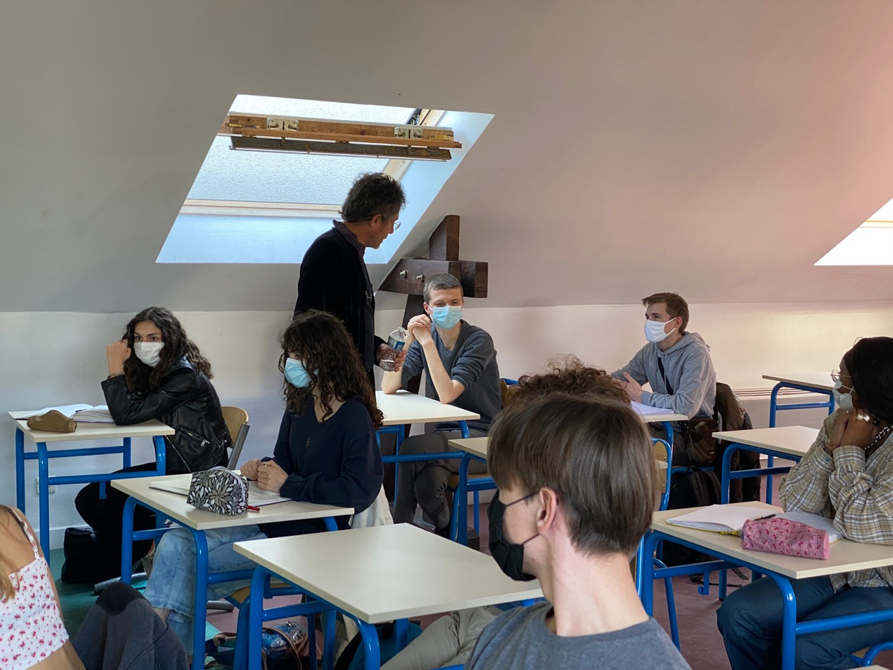 Conférence d'Etienne Klein avec les élèves de 1ères AA et Terminales AA